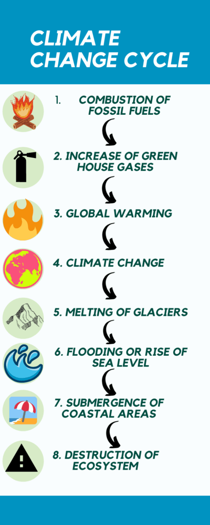 Flow cycle of climate change
