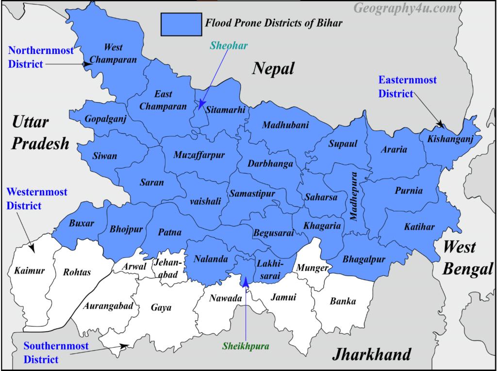 floods in bihar map