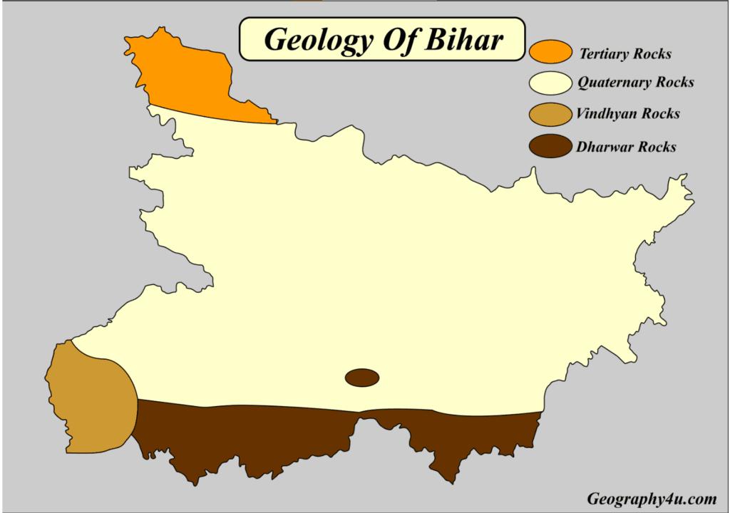 Geology of bihar map