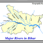 Major rivers of bihar map