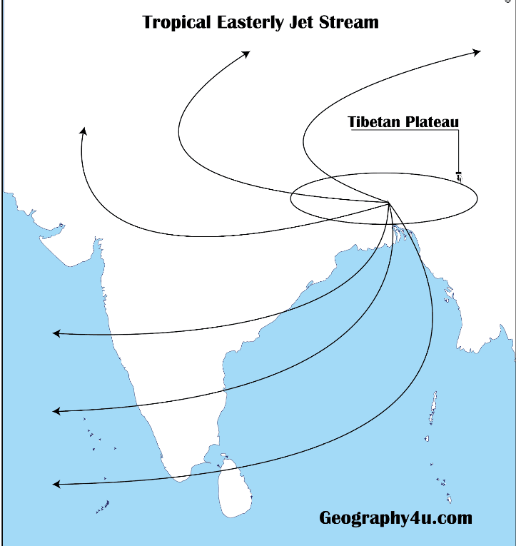 Polar easterly jet stream diagram