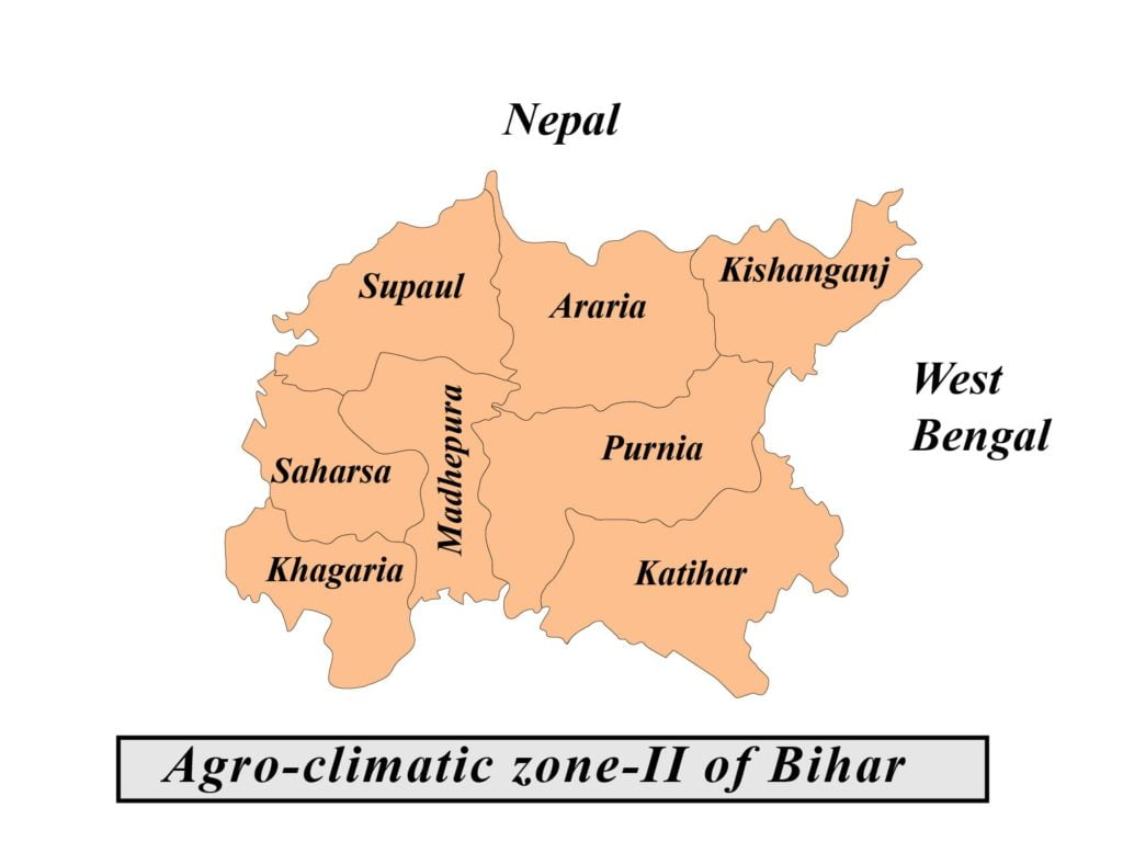 agro climate zone of bihar map