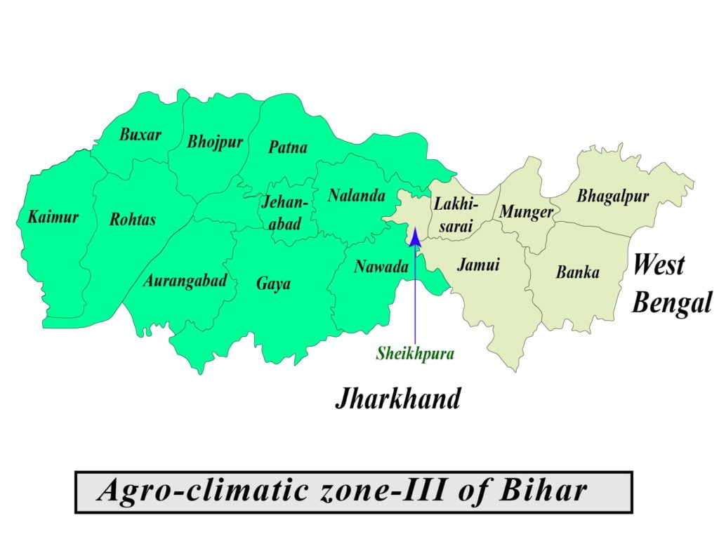 Agro-climatic zone of Bihar map
