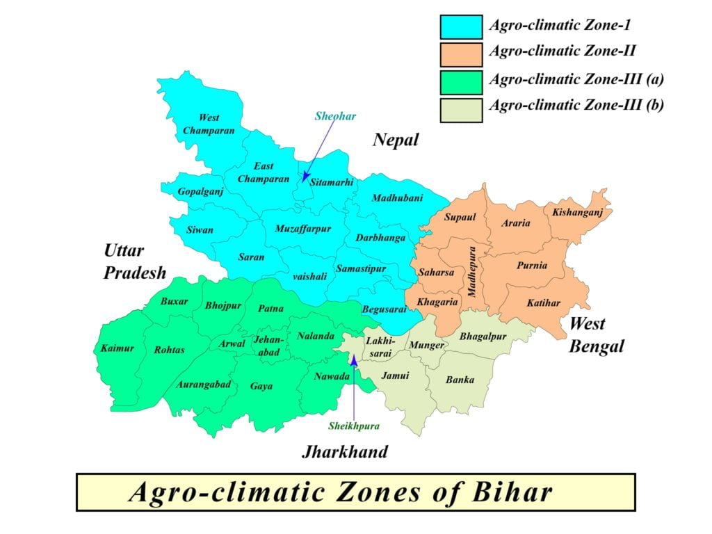 agriculture of bihar map
