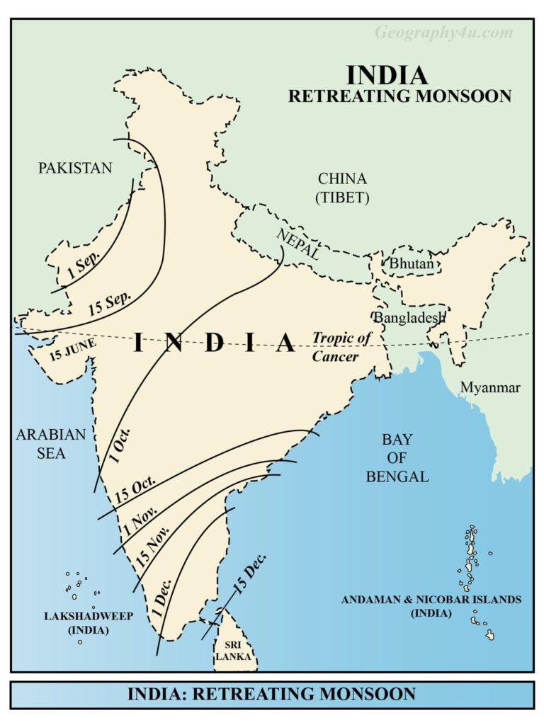 the climate of india map