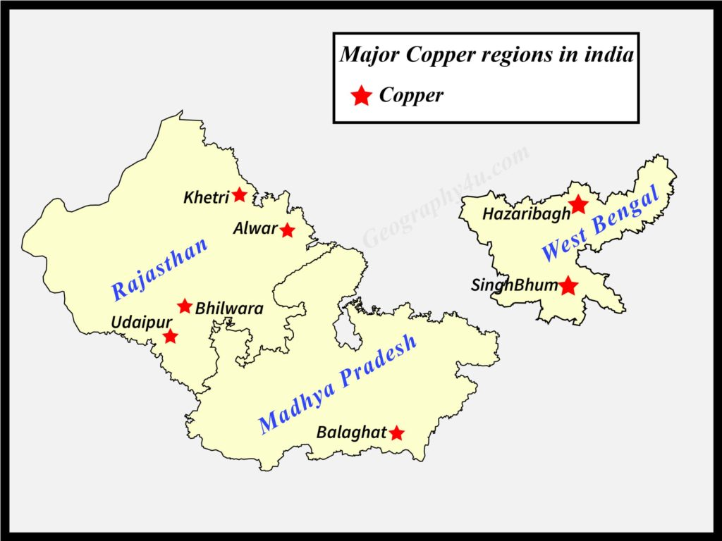 copper in india map