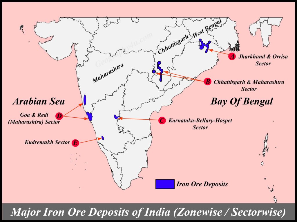 Mineral resources of india map